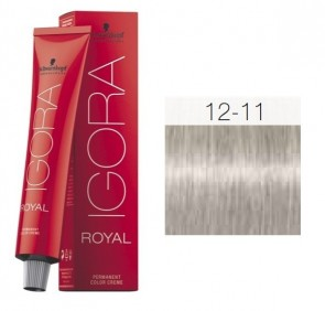 TINTE IGORA ROYAL 12-11 HIGHLIFTS RUBIO ESPECIAL 60ML SCHWARZKOPF