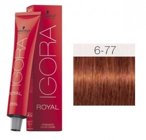 TINTE IGORA ROYAL 6-77 HIGHLIFTS RUBIO OSCURO RED COPPER 60ML SCHWARZKOPF
