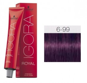 TINTE IGORA ROYAL 6-99 HIGHLIFTS RUBIO OSCURO VIOLET EXTRA 60ML SCHWARZKOPF