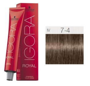 TINTE IGORA ROYAL 7-4 HIGHLIFTS RUBIO MEDIO BEIGE 60ML SCHWARZKOPF