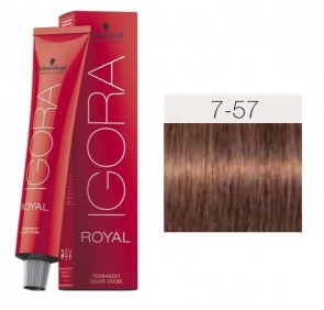 TINTE IGORA ROYAL 7-57 HIGHLIFTS RUBIO MEDIO GOLD COPPER 60ML SCHWARZKOPF