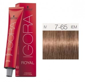 TINTE IGORA ROYAL 7-65 HIGHLIFTS RUBIO MEDIO CHOCOLATE GOLD 60ML SCHWARZKOPF