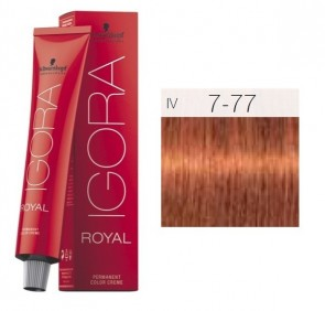 TINTE IGORA ROYAL 7-77 HIGHLIFTS RUBIO MEDIO RED COPPER 60ML SCHWARZKOPF