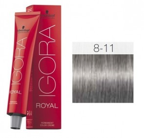 TINTE IGORA ROYAL 8-11 HIGHLIFTS RUBIO CLARO CENIZA PLUS 60ML SCHWARZKOPF