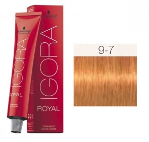TINTE IGORA ROYAL 9-7 HIGHLIFTS RUBIO CLARO EXTRA RED COPPER 60ML SCHWARZKOPF