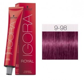 TINTE IGORA ROYAL 9-98 HIGHLIFTS RUBIO CLARO EXTRA VIOLET RED 60ML SCHWARZKOPF