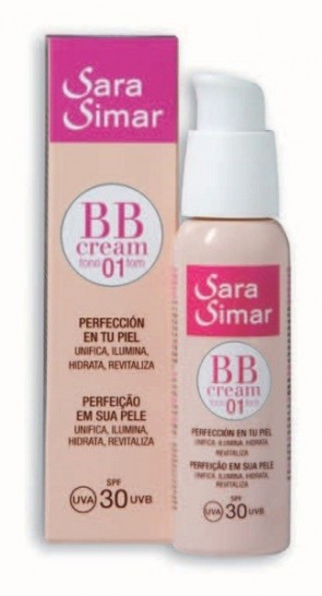 BB CREAM SPF30 TONO 01 SARA SIMAR 50 ml