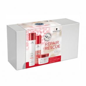 "PACK BONACURE REPAIR RESCUE ""CHAMPU + MASCARILLA + SPRAY ACONDICIONADOR"" SCHWARZKOPF PROFESSIONAL"