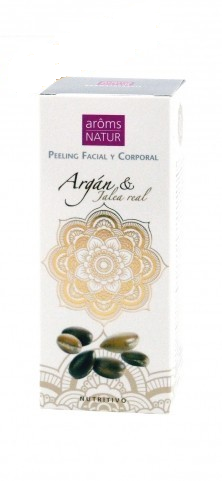 PEELING FACIAL Y CORPORAL ARGAN & JALEA REAL 50ML AROMS NATUR