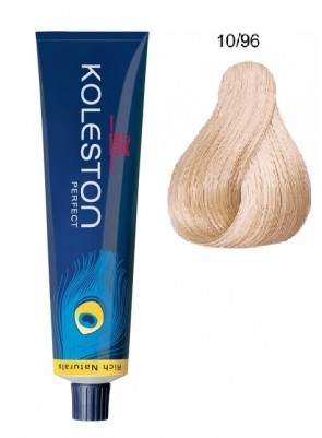 TINTE KOLESTON PERFECT RICH NATURALS 10.96 RUBIO SUPER CLARO CENDRE PERLA  60ML WELLA PROFESSIONALS